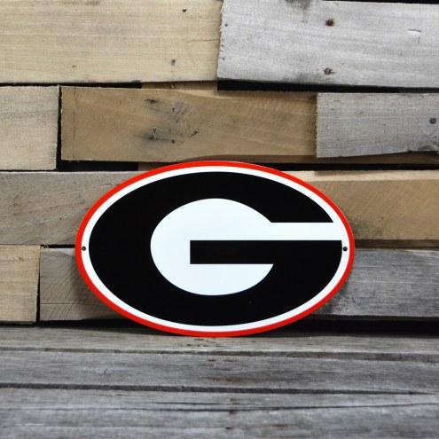 """Georgia Bulldogs 12"""" Steel Logo Sign"""