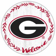 "Georgia Bulldogs 12"" Welcome Circle Sign"