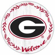 """Georgia Bulldogs 12"""" Welcome Circle Sign"""