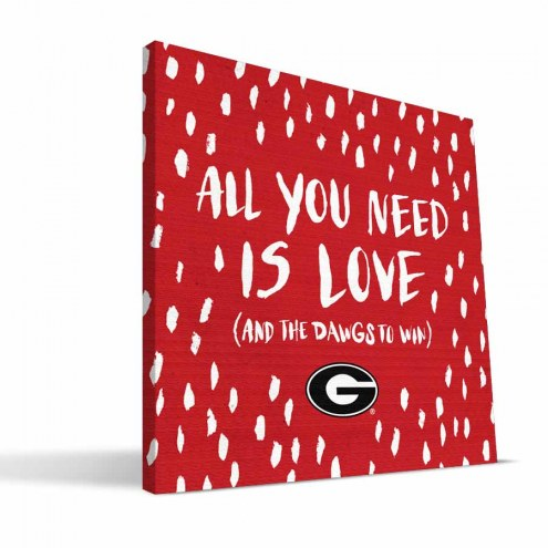 "Georgia Bulldogs 12"" x 12"" All You Need Canvas Print"