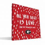 "Georgia Bulldogs 12"" x 12"" All You Need Canvas Print"