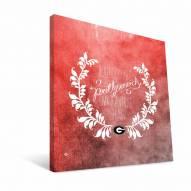 "Georgia Bulldogs 12"" x 12"" Favorite Thing Canvas Print"