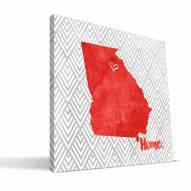 """Georgia Bulldogs 12"""" x 12"""" Home Canvas Print"""
