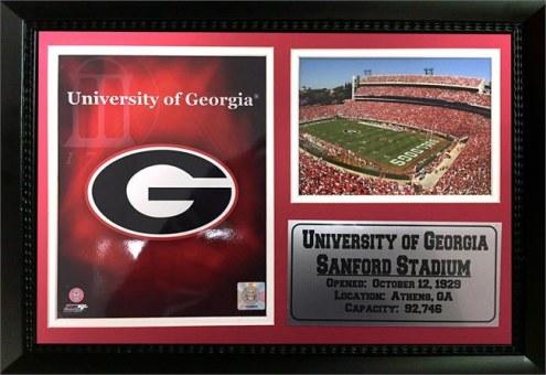 "Georgia Bulldogs 12"" x 18"" Photo Stat Frame"