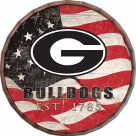 "Georgia Bulldogs 16"" Flag Barrel Top"