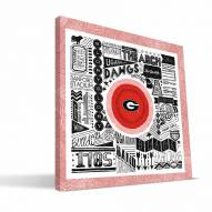 "Georgia Bulldogs 16"" x 16"" Pictograph Canvas Print"