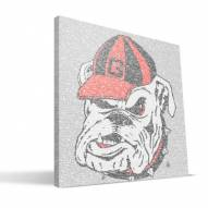 "Georgia Bulldogs 16"" x 16"" Typo Canvas Print"