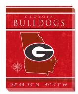 "Georgia Bulldogs 16"" x 20"" Coordinates Canvas Print"