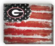 "Georgia Bulldogs 16"" x 20"" Flag Canvas Print"