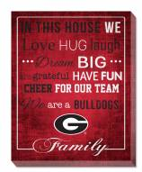 "Georgia Bulldogs 16"" x 20"" In This House Canvas Print"