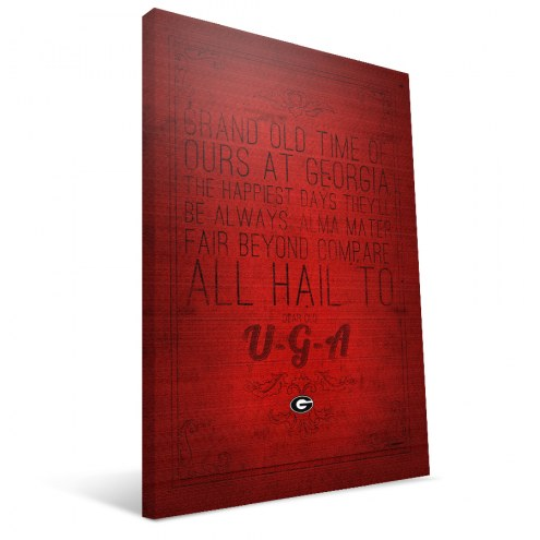 "Georgia Bulldogs 16"" x 24"" Song Canvas Print"