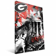 "Georgia Bulldogs 16"" x 24"" Spirit Canvas Print"