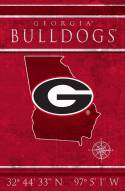 "Georgia Bulldogs 17"" x 26"" Coordinates Sign"