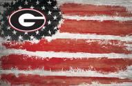 "Georgia Bulldogs 17"" x 26"" Flag Sign"