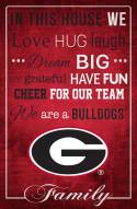 """Georgia Bulldogs 17"""" x 26"""" In This House Sign"""