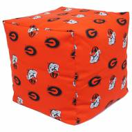 "Georgia Bulldogs 18"" x 18"" Cube Cushion"