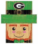 "Georgia Bulldogs 19"" x 16"" Leprechaun Head"