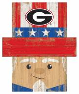 "Georgia Bulldogs 19"" x 16"" Patriotic Head"