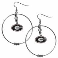 "Georgia Bulldogs 2"" Hoop Earrings"