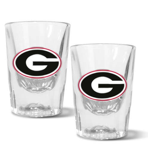 Georgia Bulldogs 2 oz. Prism Shot Glass Set