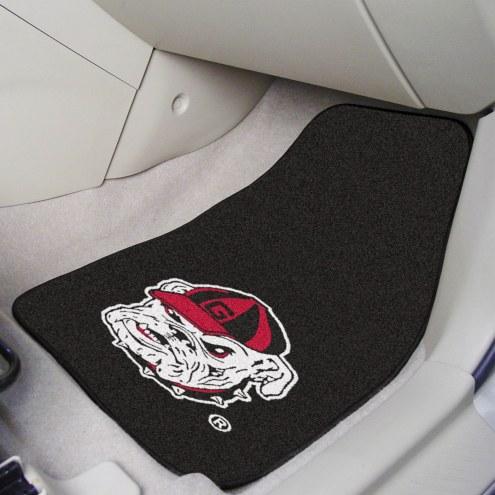 Georgia Bulldogs 2-Piece Carpet Car Mats