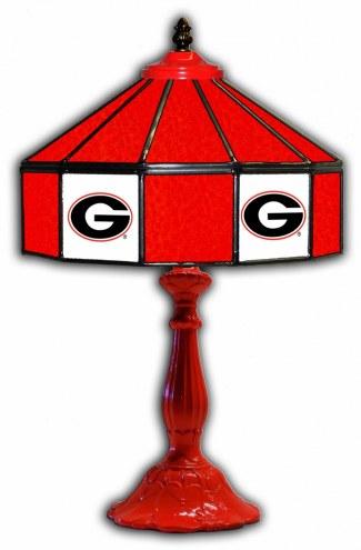 """Georgia Bulldogs 21"""" Glass Table Lamp"""