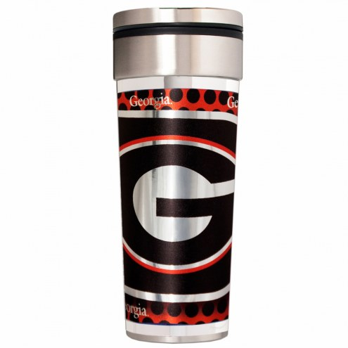 Georgia Bulldogs 22 oz. Hi Def Travel Tumbler