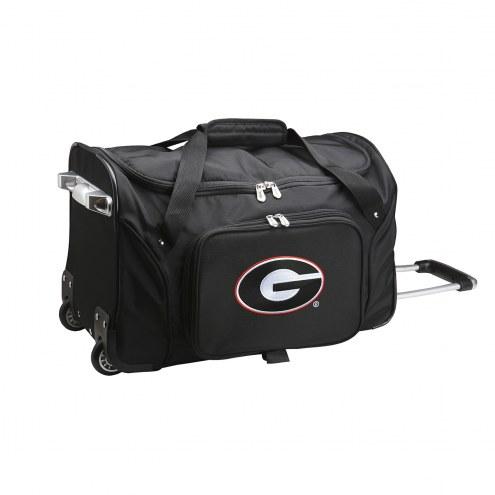 "Georgia Bulldogs 22"" Rolling Duffle Bag"