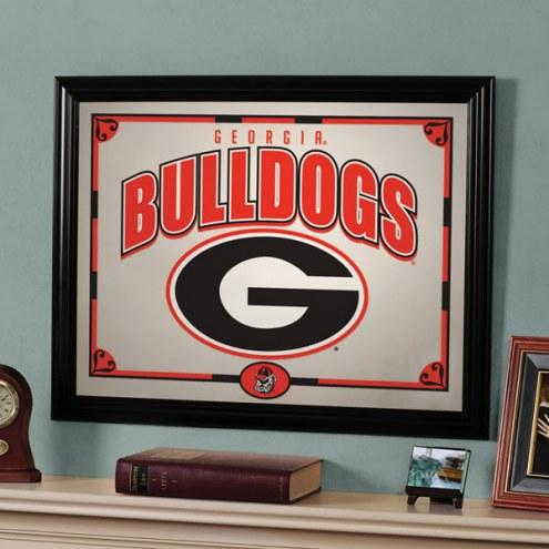 """Georgia Bulldogs 23"""" x 18"""" Mirror"""
