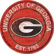 "Georgia Bulldogs 24"" Heritage Logo Round Sign"