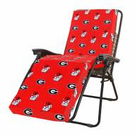 Georgia Bulldogs 3 Piece Chaise Lounge Chair Cushion