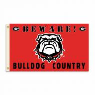 Georgia Bulldogs 3' x 5' Beware Flag