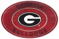 "Georgia Bulldogs 46"" Heritage Logo Oval Sign"