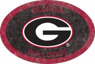 "Georgia Bulldogs 46"" Team Color Oval Sign"