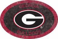 "Georgia Bulldogs 46"" Team Color Oval Sign"