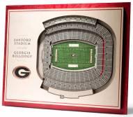 Georgia Bulldogs 5-Layer StadiumViews 3D Wall Art