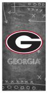 "Georgia Bulldogs 6"" x 12"" Chalk Playbook Sign"