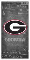 "Georgia Bulldogs 6"" x 12"" Chalk Playbook Sign"