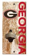 "Georgia Bulldogs 6"" x 12"" Distressed Bottle Opener"
