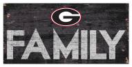 "Georgia Bulldogs 6"" x 12"" Family Sign"