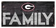 "Georgia Bulldogs 6"" x 12"" Family Sign"