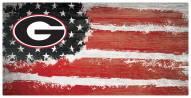 "Georgia Bulldogs 6"" x 12"" Flag Sign"