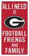 "Georgia Bulldogs 6"" x 12"" Friends & Family Sign"