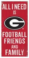 "Georgia Bulldogs 6"" x 12"" Friends & Family Sign"