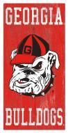 """Georgia Bulldogs 6"""" x 12"""" Heritage Logo Sign"""