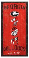 """Georgia Bulldogs 6"""" x 12"""" Heritage Sign"""