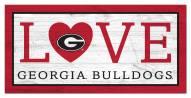 """Georgia Bulldogs 6"""" x 12"""" Love Sign"""