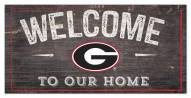 "Georgia Bulldogs 6"" x 12"" Welcome Sign"
