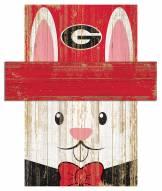 """Georgia Bulldogs 6"""" x 5"""" Easter Bunny Head"""
