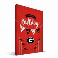 """Georgia Bulldogs 8"""" x 12"""" Little Man Canvas Print"""